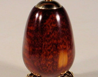 Exotic Snakewood 24k Kaleidoscope Egg with brass stand