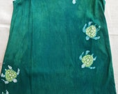 Girl's 10 Turtle batik tank dress