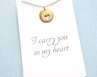 Miscarriage Necklace | Heart Necklace, Condolence, Infant Loss Jewelry, Loss of a Child, Miscarriage Quote, Sympathy Gift | R01