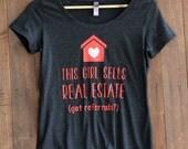 Women's Triblend Scoop, Real Estate, Real Estate Clothes, Real Estate Shirt, I sell real estate --65062-AV22-606