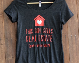Women's Triblend Scoop, Real Estate, Real Estate Clothes, Real Estate Shirt, I sell real estate --65062-AV22-606