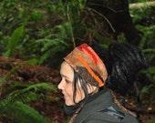 Headband, Dread Wrap, Autumn Colors, Brown and Burnt Orange, FesTivaL ClothinG, OriginaL Intergalactic AppaRel