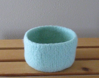 Mint Felted Bowl for Spring - In Stock - Ready to Ship