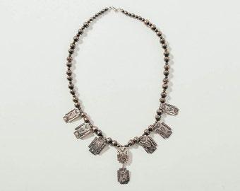 Vintage Old Navajo Sterling Silver Necklace