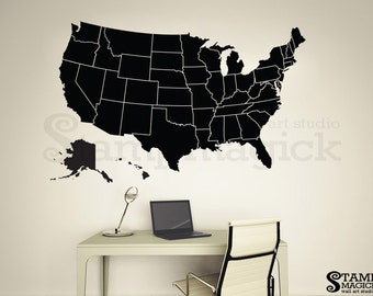 United States Of America Map Wall Decal USA Wall Art Map - Us map dry erase
