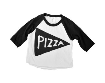 Kids Pizza Shirt - toddler birthday gift - raglan Baseball Jersey shirt, graphic tee gift for kids, tmnt funny t-shirt - unisex clothes kids