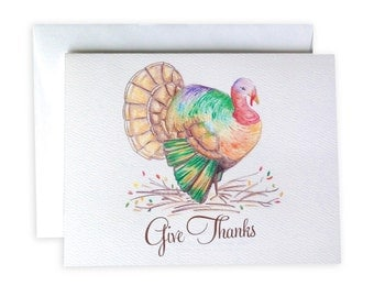 Thanksgiving Turkey Notecard Set