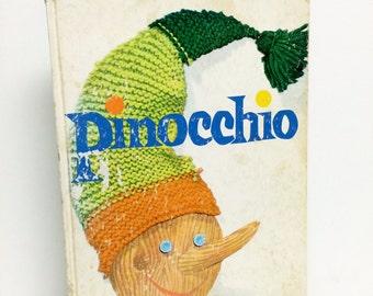 Pinocchio, Lois Lenski, Random House, 1960s, Classic Book, Ephemera, Childrens Book, Vintage Nursery, Photo Prop, Old Childrens Books
