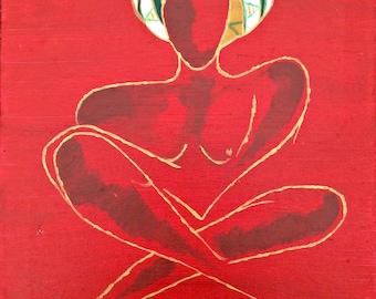 Erykah - Fine Art PRINT - Wall Art - Shelf, Mantle and Desk Decor