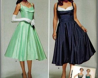 Simplicity 1155 Retro Dress Pattern 1950s Vintage Sizes 10-12-14-16-18 Reissue Full Skirt Rockabilly