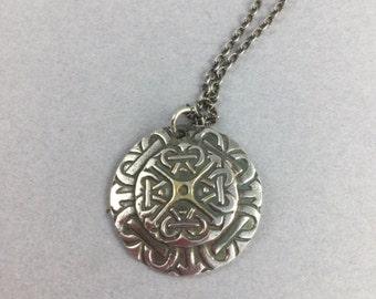 Celtic Inspired Fine Silver Pendant