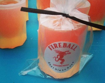 Mens. Mens Gift. College Student Gift. SHOT GLASS Soap, Novelty Gift, Fireball, Father, Dad, Party Favors, Bar Prank, Gag Gift, for Him