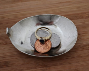 Coin Change Dish, Tiny Trinket Bowl, Vintage Spoon Ring Dish, Ring Holder, Jewelry Storage, Repurposed, Recycled Silverware by Hendywood