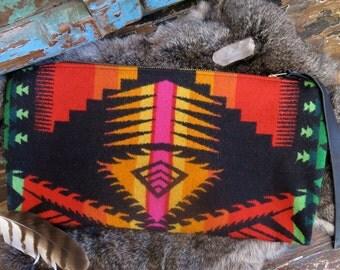 Solar Fire Pyramid Wool Clutch