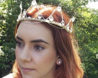 Crystal and Moonstone Fairytale Tiara Crown