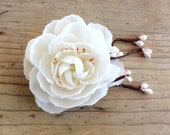 Sequoia Bridal White Twig Hair Fascinator, Clip, Wedding, Rustic, Boho, Woodland, Ready to Ship