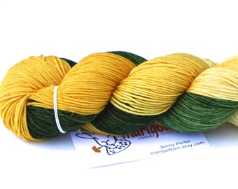 Spring Fling--hand dyed sock yarn, merino and nylon, (463yds/100gm)