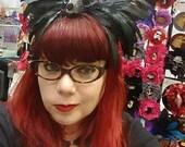 Horn, Maleficent inspired, Horns, Skull, Skull headband, Headdress, Horn headband, Haunted Mansion, Burlesque, Ready to ship