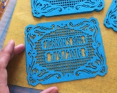 Fiesta party invitation inserts - Personalized, custom color - BUENOS AIRES papel picado embellishments