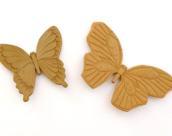 Pair of Butterfly Wall Plaques by Dart Inc.