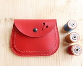 Handmade, Leather clutch Large Purse, MERRY 3066 really red