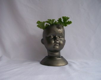 Halloween Ceramic Doll Head Planter