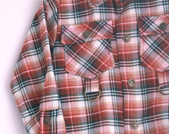Vintage Plaid shirt by Healthtex 3t 4t brown and rust plaid