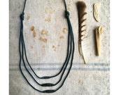 indigo fishing line and sinker necklace no. 7