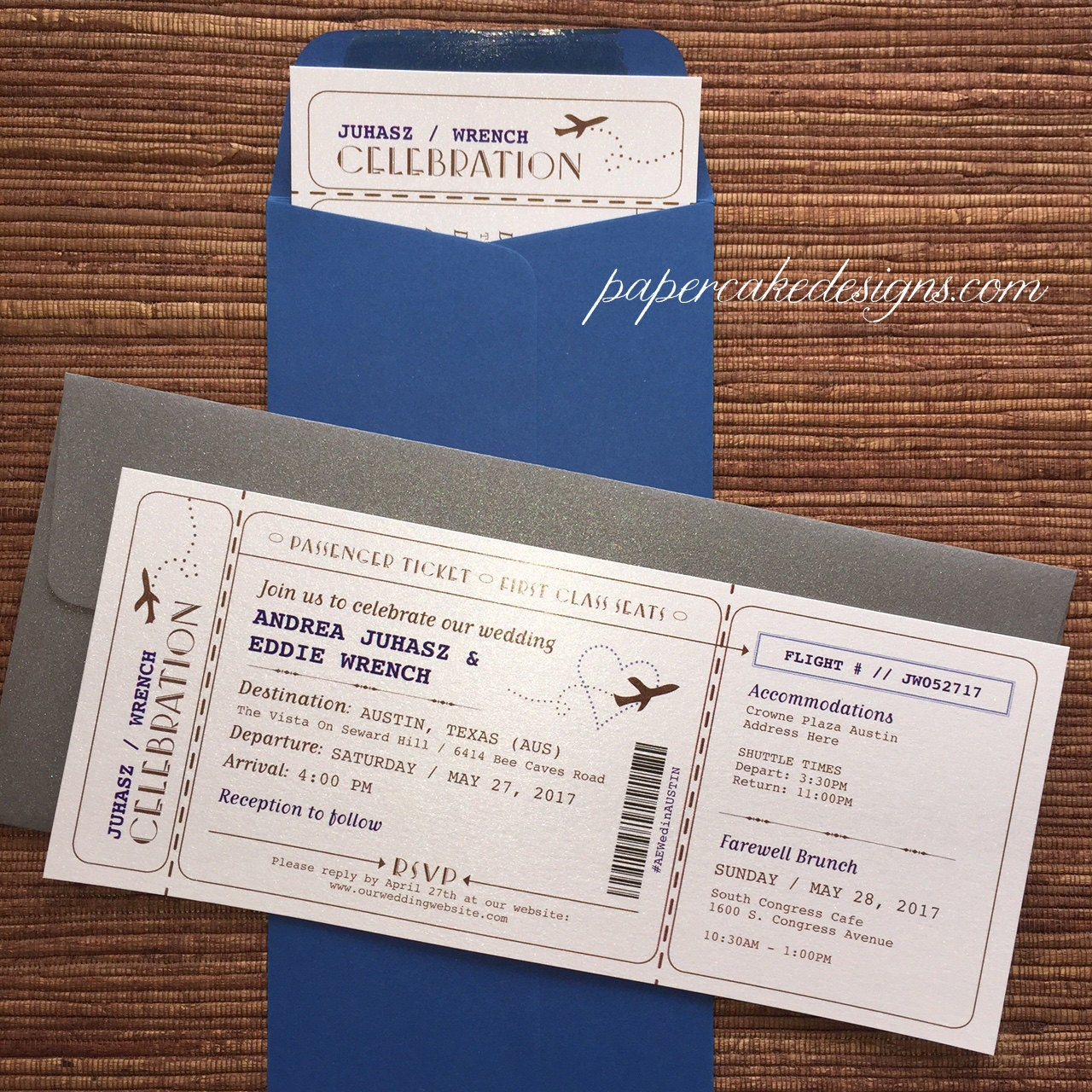 Airplane Ticket Boarding Pass Birthday Invitation: Boarding Pass Airline Ticket Invitation / DIY Printable PDF