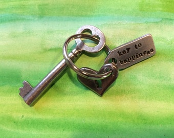 Key to Happiness key ring