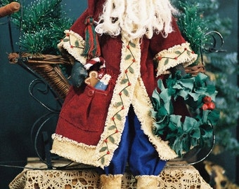 NOW ON SALE Cloth Doll E-Pattern  24in Old World Santa doll e-pattern