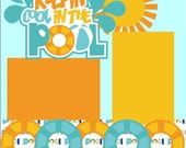 Summer/Pool 12X12 Premade Scrapbook Layout or 12X12 Premade Scrapbook Page Kit