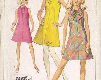 Vintage Pattern Simplicity 7625 Dress 60s Size 10 B31-1/2