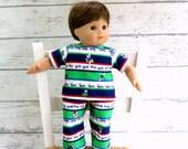 15 inch Boy Doll PJs, Bitty Twin Boy Pajamas, Bug Print Pajamas, Boy Doll Sleepwear
