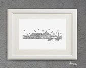 Skyline Series - Black and White Art Print (8 x 10)