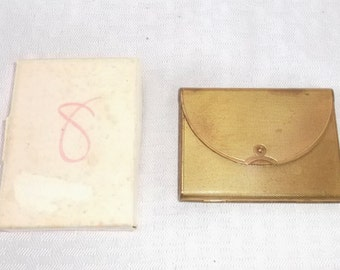 40s 50s Vintage Coty Envelope Compact with Powder and Original Box