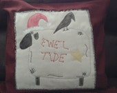 Primitive Sheep Christmas Pillow