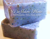 SMALL BUSINESS SATURDAY Soap- Peppermint Tea Tree Soap - Handmade Soap - Vegan Soap - Cold Processed Soap