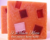SOAP- Patchouli Rose Sage Soap, Handmade Soap, Cold Process Soap, Shaving Soap, Soap Gift