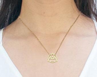Tiny Low Level Illuminati Necklace