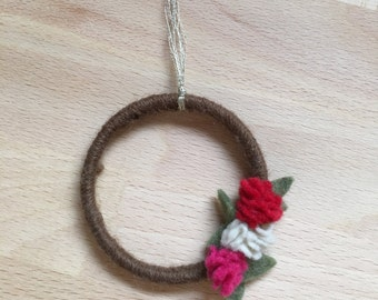 Miniature Felt Flower Wreath