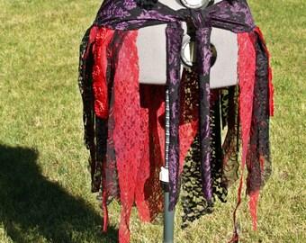 Skirt Hip wrap Asymmetrical Whimsical Fairy