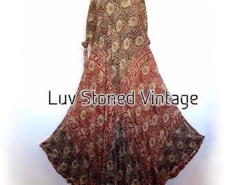 Vtg 70s Rare Cotton Gauze Caftan Kaftan Hippie Indian Festival Gypsy Maxi Dress . SML . D118 . 1203.7.23.16