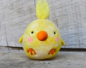OOAK Felted Wool Spring Chick
