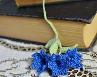 Bluebells Crochet Flower Bookmark