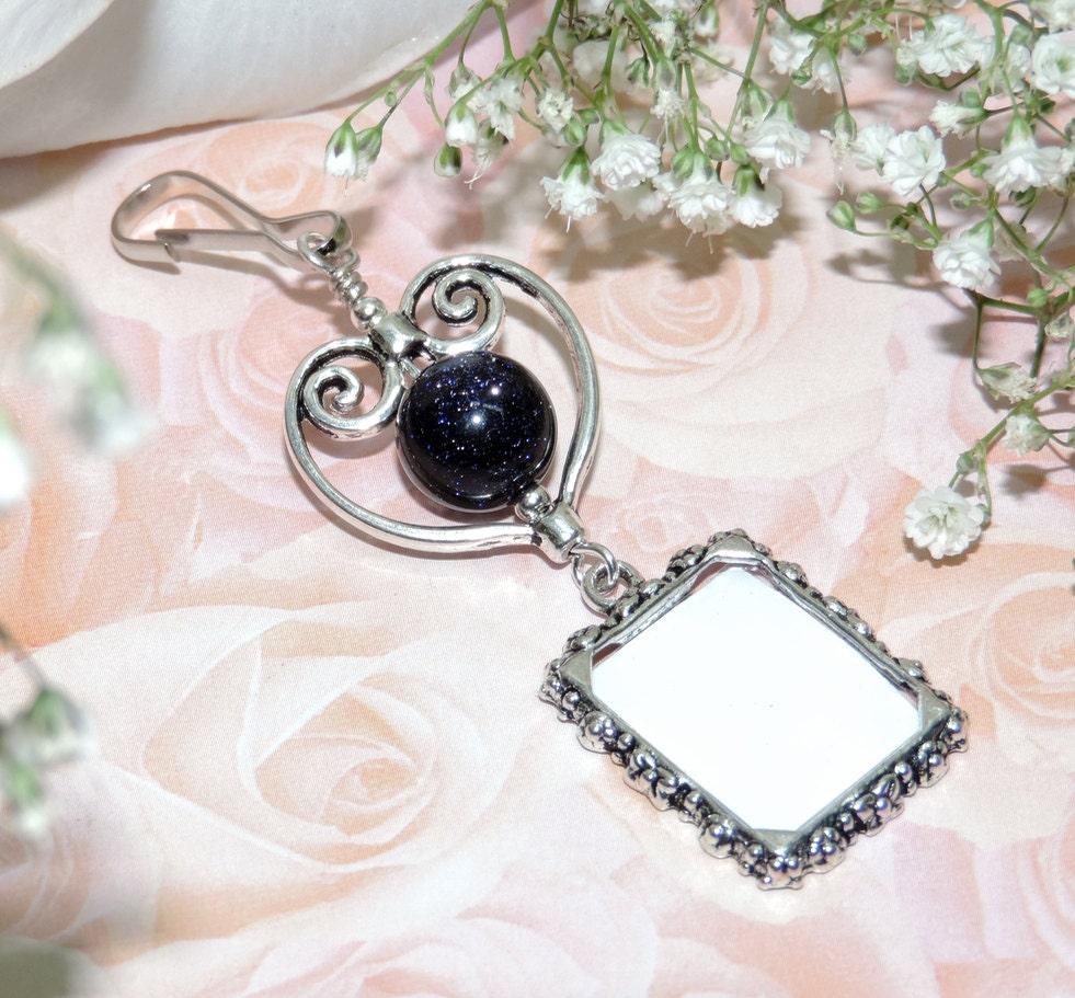 Blue Bridal Bouquet Charm : Something blue wedding bouquet charm memorial by