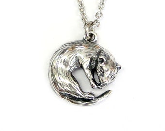 Ferret Necklace Silver Ferret Pet Ferret Ferret Jewelry 522