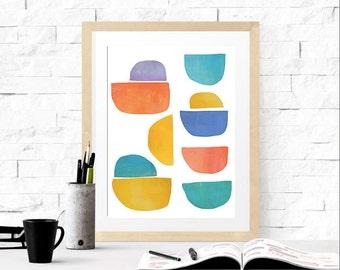 Minimalist Art Print, Digital Download, Printable Scandinavian Art, Instant Download, Abstract Art Print, Scandinavian Modern Art Print