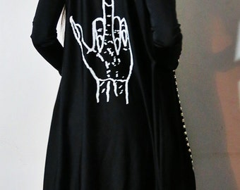Hell Couture Sign Of Kish Studded Midi Hoodie