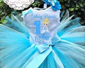 Cinderella Tutu Outfit - Cinderella Tutu Set - Cinderella Costume